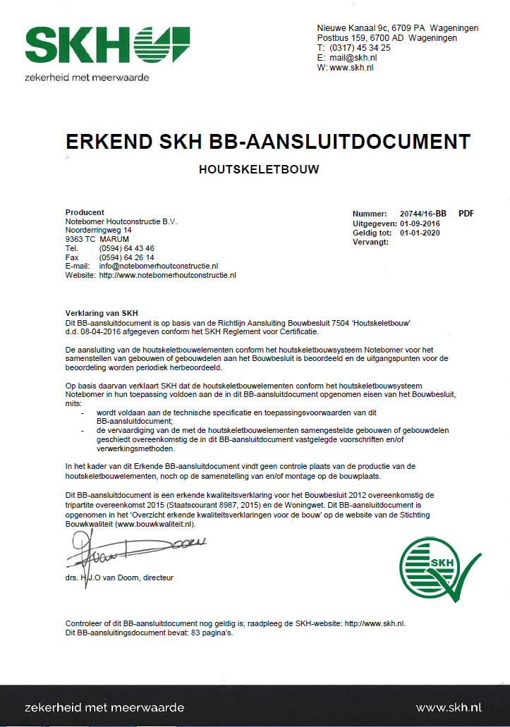 SKH certificaat