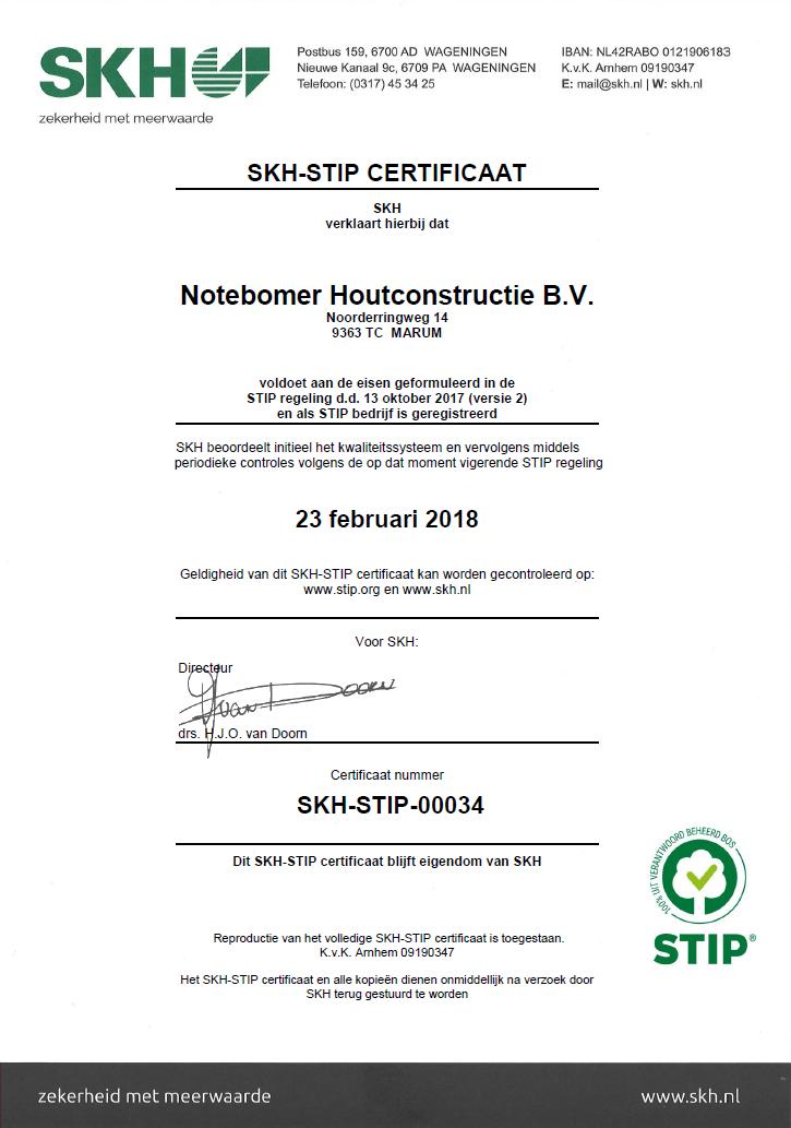 Stip certificaat
